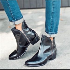 seychelles lucky penny boot black patent leather
